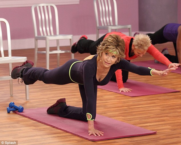 Jane Fonda fitness at 73 proving that exercise will keep you young