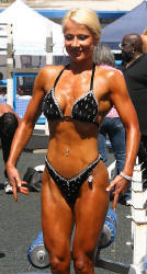 Lejla after 9% bodyfat at Muscle Beach