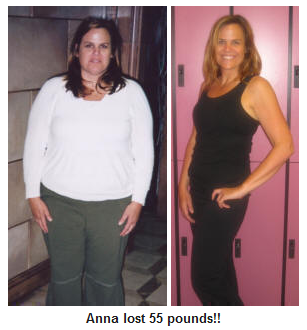 anna's 55 lb weight loss