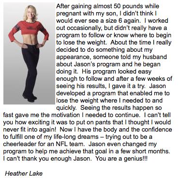 postpartum weight loss testimonial
