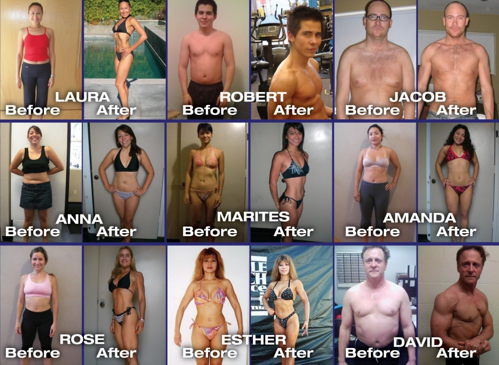 personal trainer before and after photos