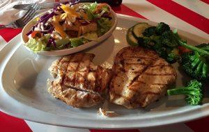 plain chicken at restaurant