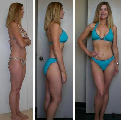 Woodland Hills personal training client Sophia before and after photos