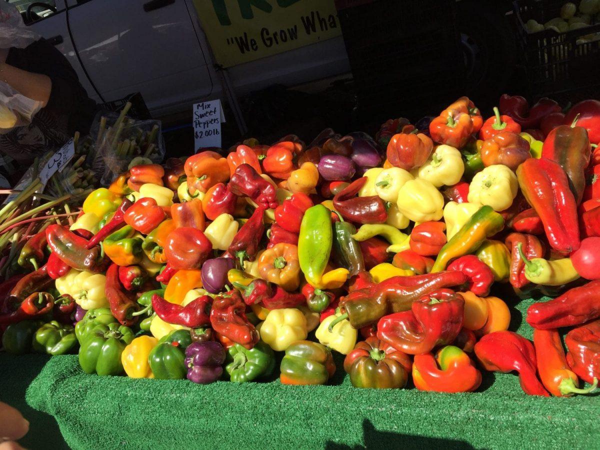 seasonal farmers market peppers