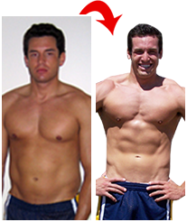 Mark body transformation before and after