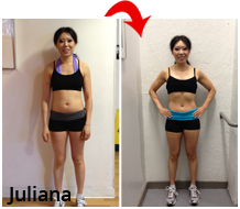 Julianna before and after