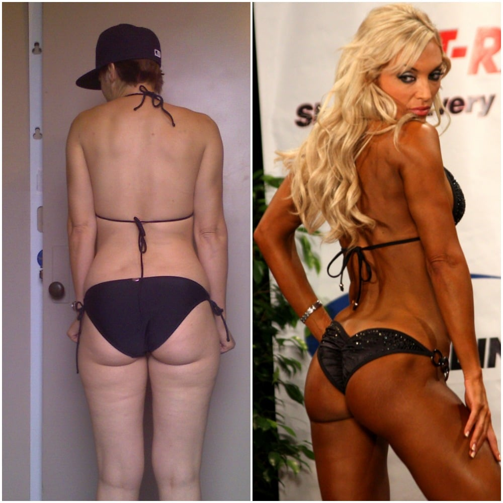 bikini competition before and after