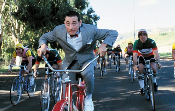 pee wee herman biking