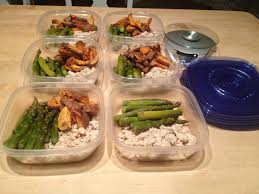 meal prep in tupperware