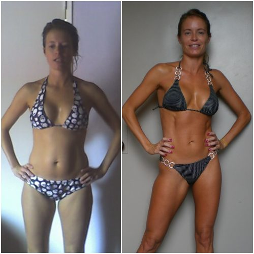 Hanna bikini before after