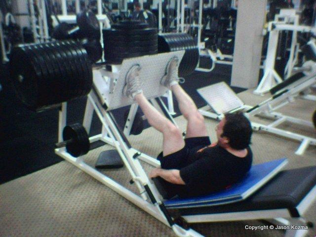 Matt leg pressing 1300 lbs
