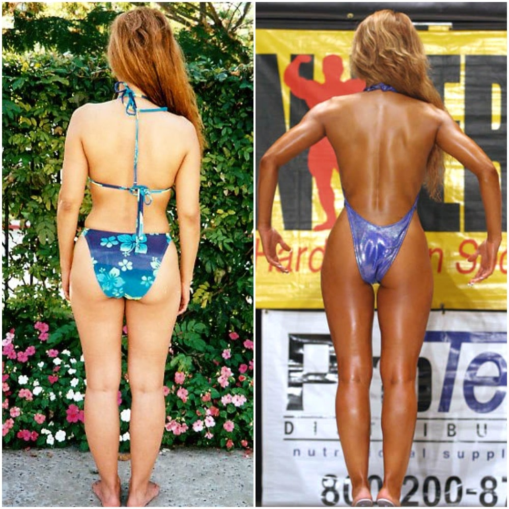Esther back before and after
