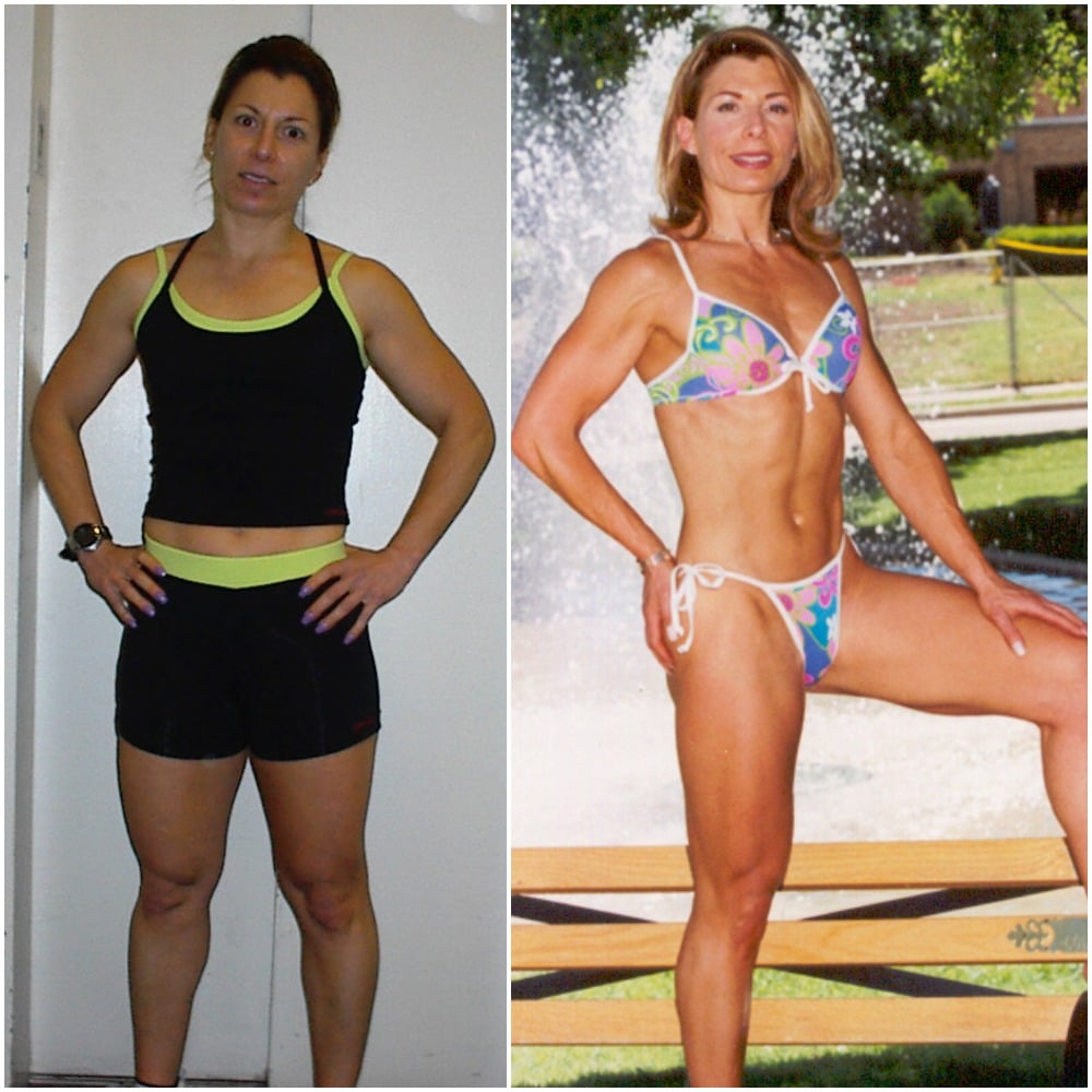Roxanne Davis before and after Galaxy Fitness