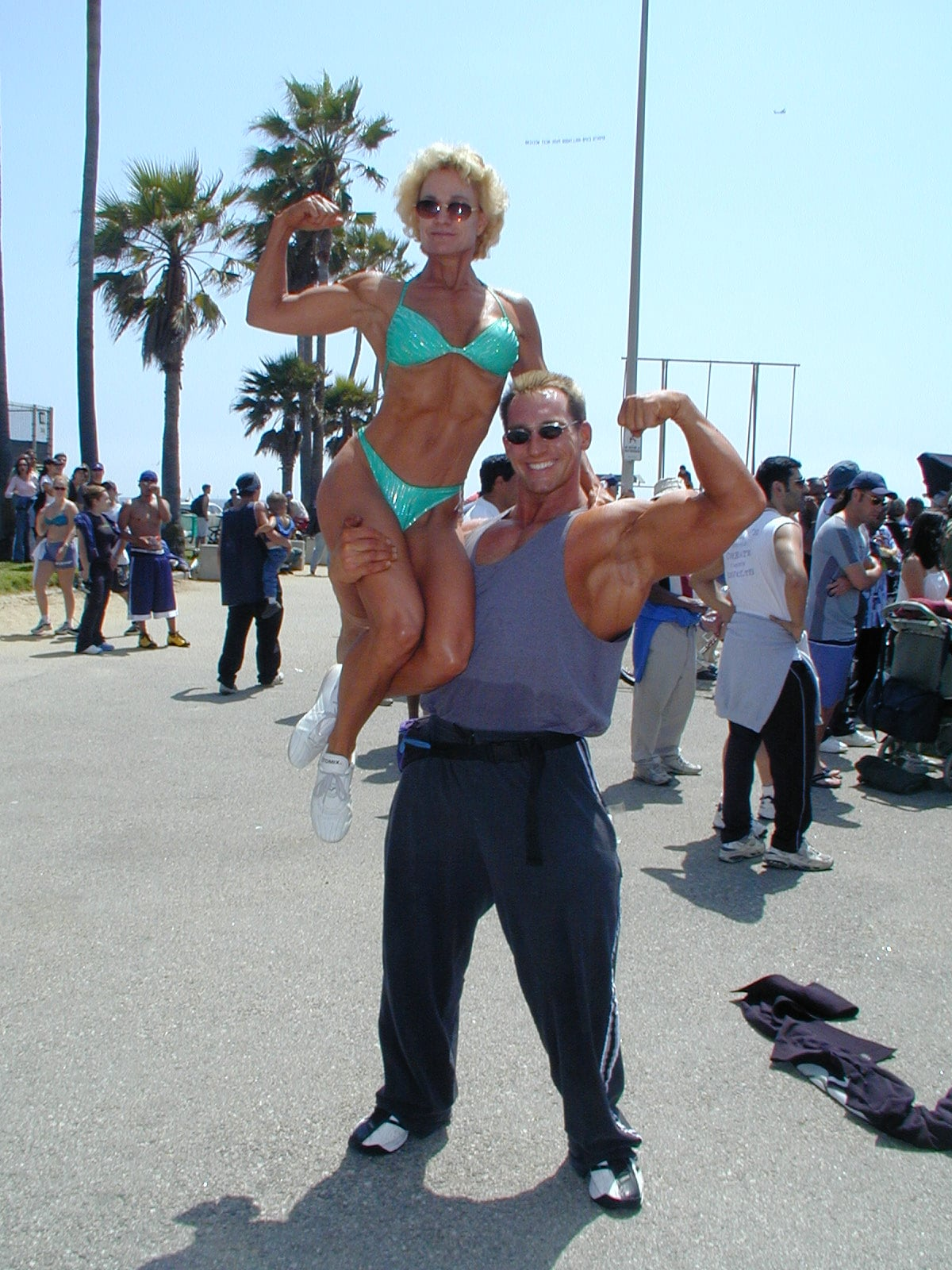 Gale and Jason Muscle Beach