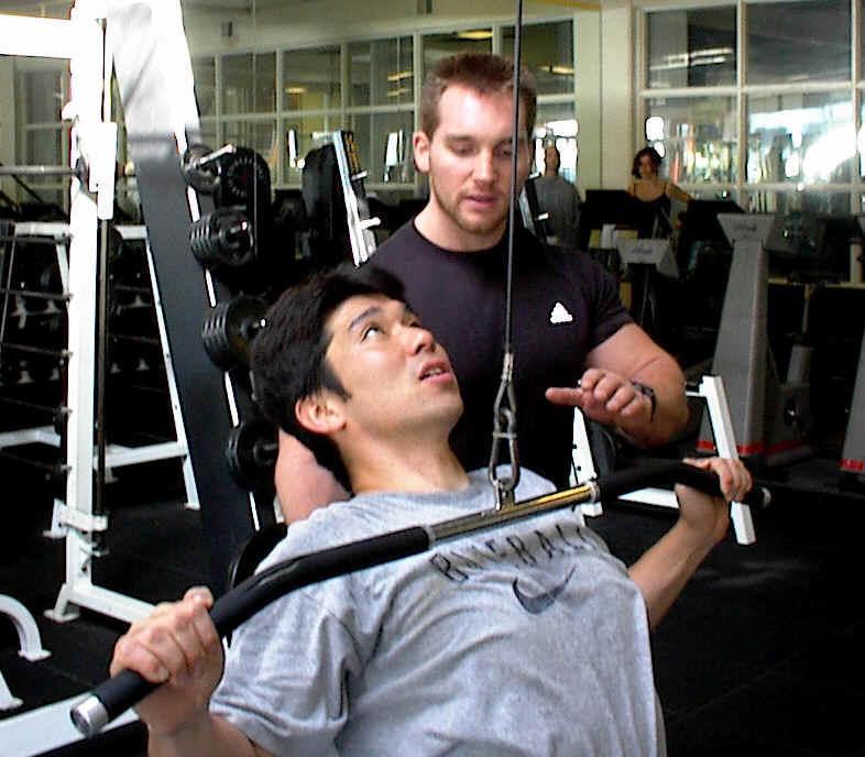 Hideo Nomo training